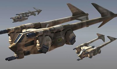 Earthforce GROPOS Gunship