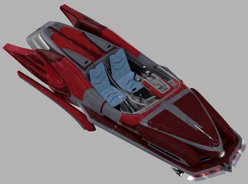 Narglatch AirTech prefabricated kit XJ-2 Airspeeder