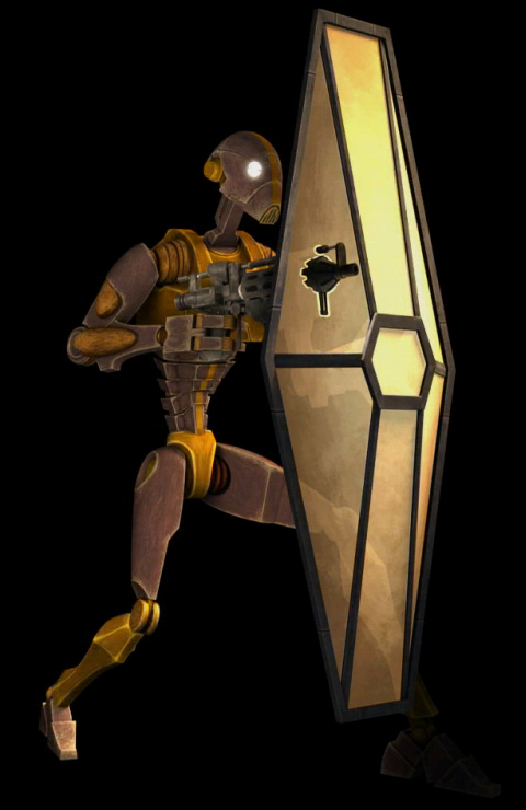 Droid commando personal shield