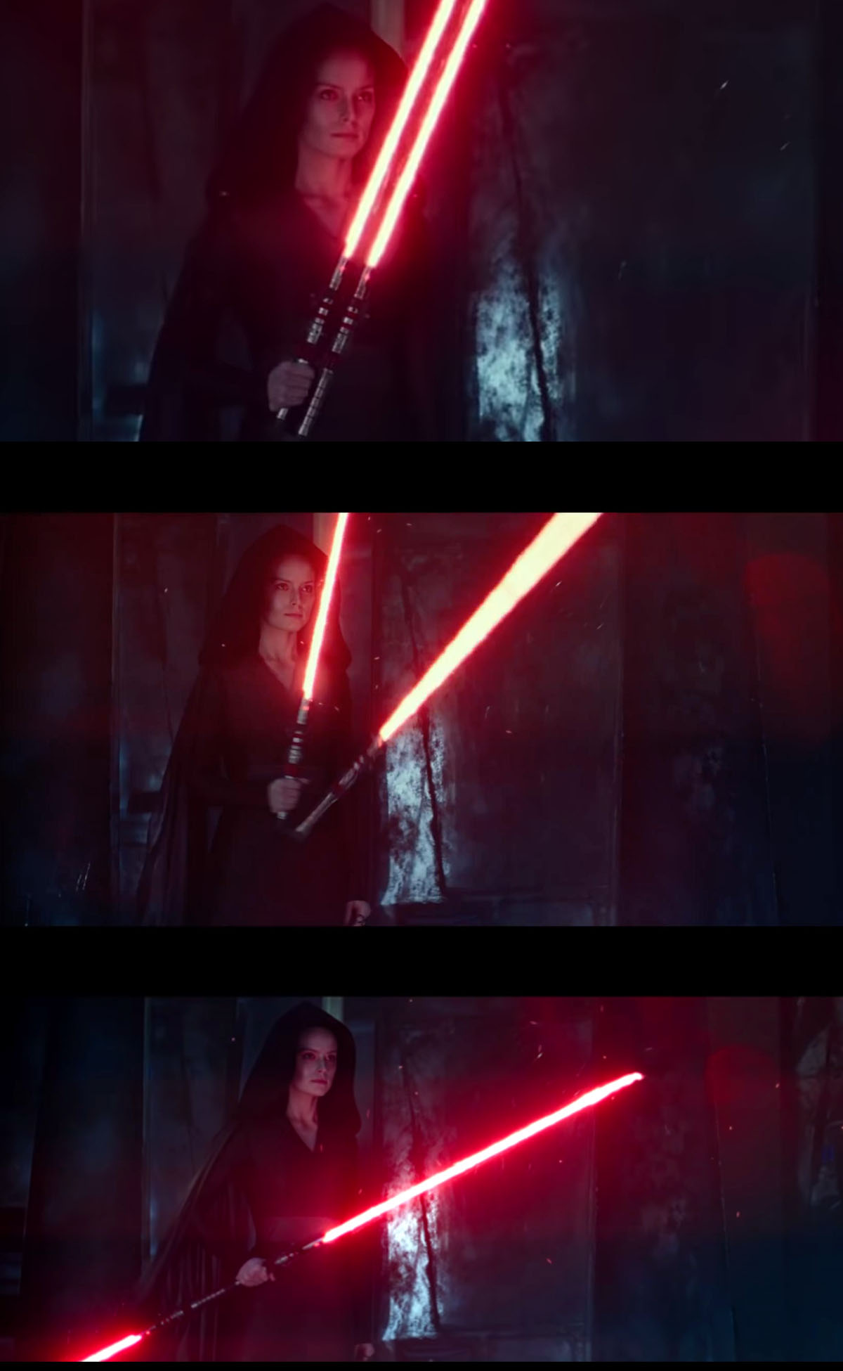 Hinged Double-Bladed Lightsaber