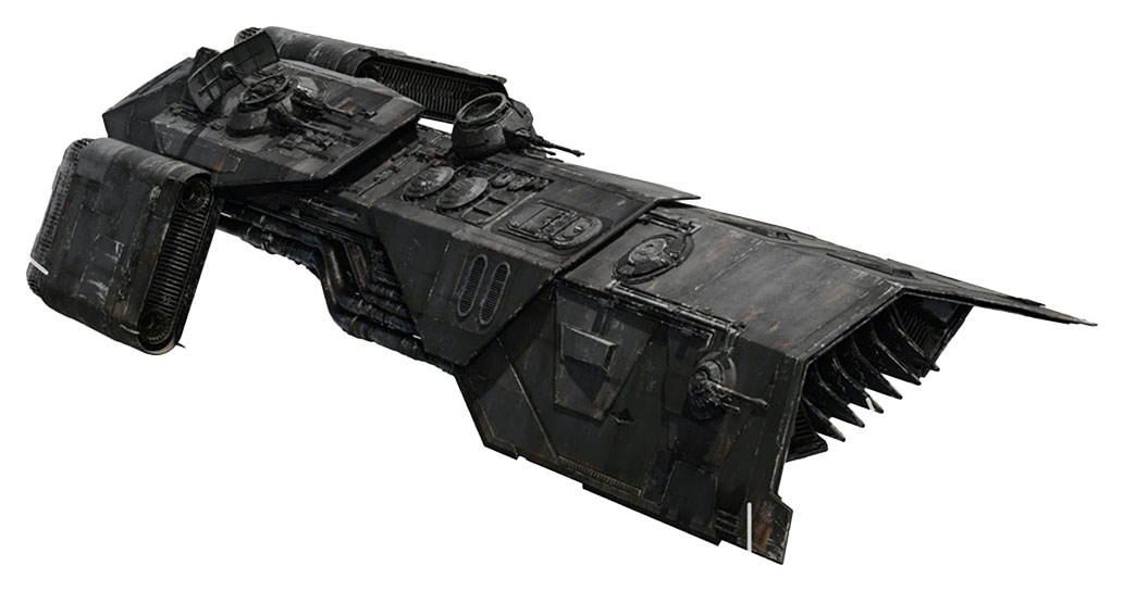 Osseriton Assemblages Oubliette-class transport (Night Buzzard)