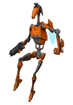 Trade Federation modified B1 battle droid (Rocket Battle Droid)