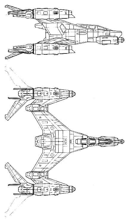 Earth Alliance SA-32A ThunderBolt Class StarFury Starfighter